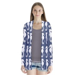 Seahorse And Shell Pattern Cardigans
