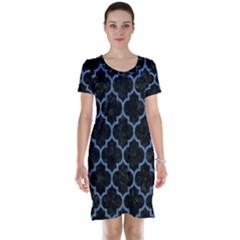 TIL1 BK-MRBL BL-DENM Short Sleeve Nightdress