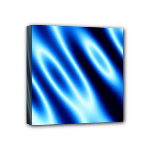 Grunge Blue White Pattern Background Mini Canvas 4  x 4