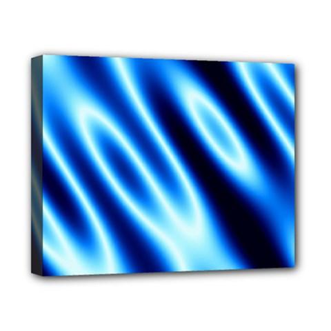 Grunge Blue White Pattern Background Canvas 10  X 8