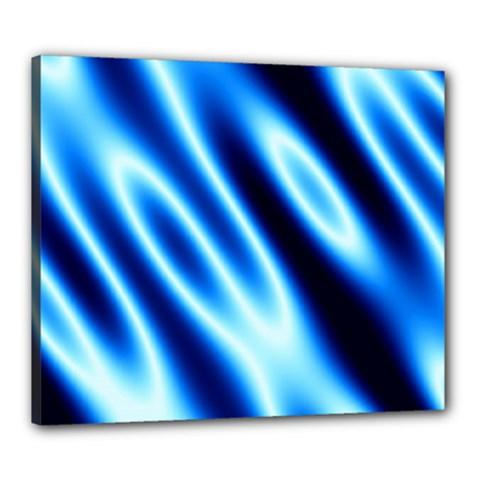 Grunge Blue White Pattern Background Canvas 24  X 20