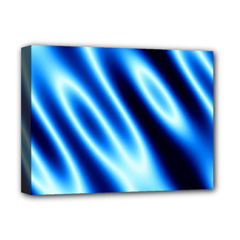 Grunge Blue White Pattern Background Deluxe Canvas 16  x 12