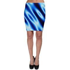 Grunge Blue White Pattern Background Bodycon Skirt