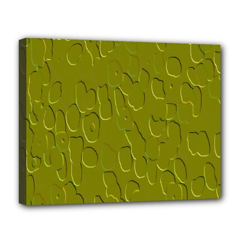 Olive Bubble Wallpaper Background Canvas 14  x 11