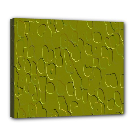 Olive Bubble Wallpaper Background Deluxe Canvas 24  x 20