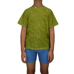 Olive Bubble Wallpaper Background Kids  Short Sleeve Swimwear