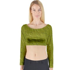 Olive Bubble Wallpaper Background Long Sleeve Crop Top