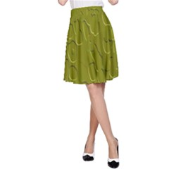 Olive Bubble Wallpaper Background A-Line Skirt