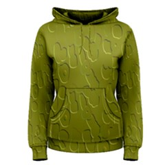 Olive Bubble Wallpaper Background Women s Pullover Hoodie