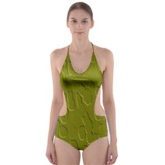 Olive Bubble Wallpaper Background Cut Out One Piece Swimsuit