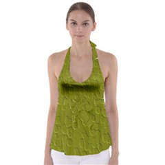 Olive Bubble Wallpaper Background Babydoll Tankini Top