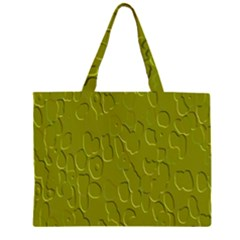 Olive Bubble Wallpaper Background Large Tote Bag