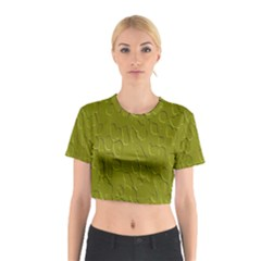 Olive Bubble Wallpaper Background Cotton Crop Top