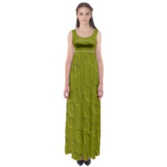 Olive Bubble Wallpaper Background Empire Waist Maxi Dress