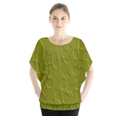 Olive Bubble Wallpaper Background Blouse