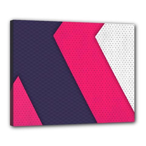 Pink Pattern Canvas 20  X 16
