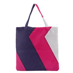 Pink Pattern Grocery Tote Bag