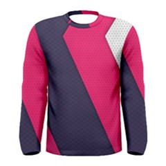 Pink Pattern Men s Long Sleeve Tee