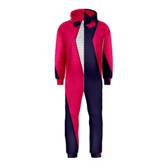 Pink Pattern Hooded Jumpsuit (Kids)