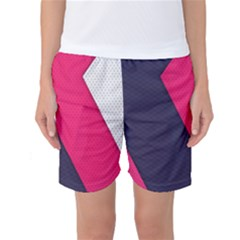 Pink Pattern Women s Basketball Shorts