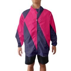 Pink Pattern Wind Breaker (Kids)