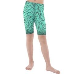 Grunge Rain Frame Kids  Mid Length Swim Shorts