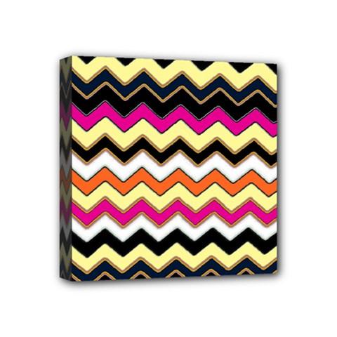 Colorful Chevron Pattern Stripes Pattern Mini Canvas 4  X 4