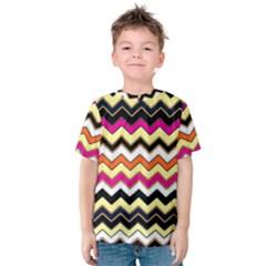 Colorful Chevron Pattern Stripes Pattern Kids  Cotton Tee