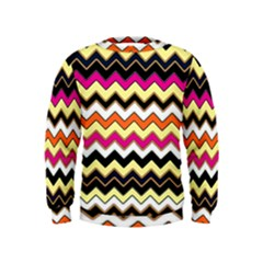 Colorful Chevron Pattern Stripes Pattern Kids  Sweatshirt