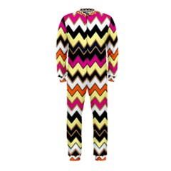 Colorful Chevron Pattern Stripes Pattern Onepiece Jumpsuit (kids)
