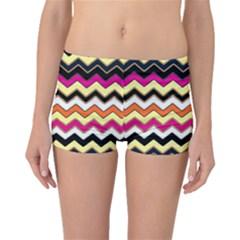 Colorful Chevron Pattern Stripes Pattern Boyleg Bikini Bottoms