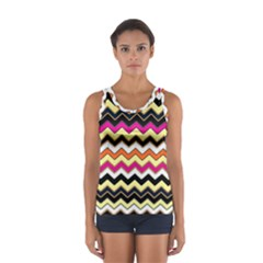 Colorful Chevron Pattern Stripes Pattern Women s Sport Tank Top