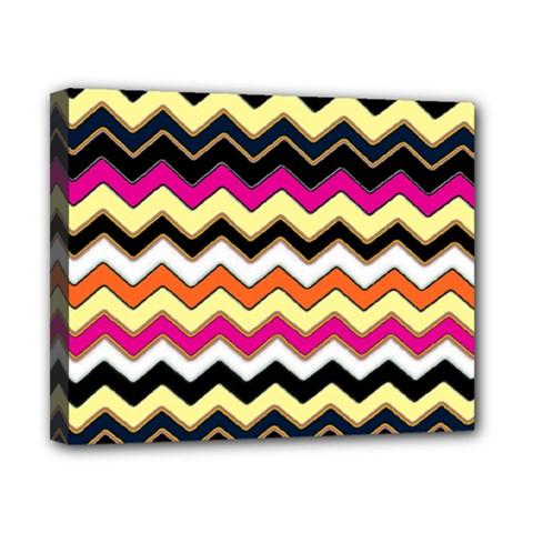 Colorful Chevron Pattern Stripes Pattern Canvas 10  X 8