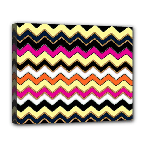 Colorful Chevron Pattern Stripes Pattern Deluxe Canvas 20  x 16