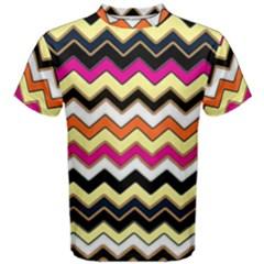 Colorful Chevron Pattern Stripes Pattern Men s Cotton Tee