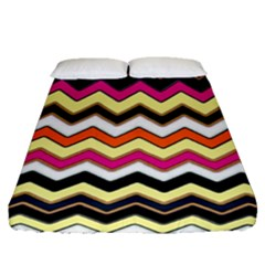Colorful Chevron Pattern Stripes Pattern Fitted Sheet (queen Size)