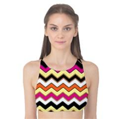 Colorful Chevron Pattern Stripes Pattern Tank Bikini Top