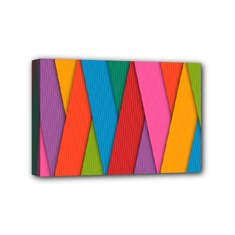 Colorful Lines Pattern Mini Canvas 6  X 4