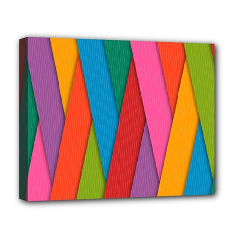 Colorful Lines Pattern Deluxe Canvas 20  x 16