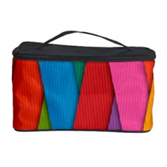 Colorful Lines Pattern Cosmetic Storage Case