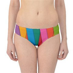 Colorful Lines Pattern Hipster Bikini Bottoms