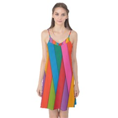 Colorful Lines Pattern Camis Nightgown