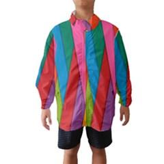 Colorful Lines Pattern Wind Breaker (Kids)
