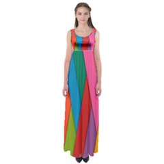 Colorful Lines Pattern Empire Waist Maxi Dress