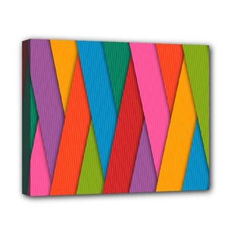 Colorful Lines Pattern Canvas 10  x 8