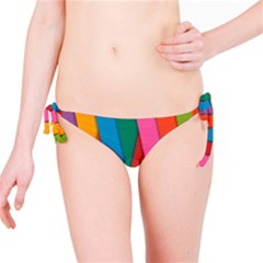 Colorful Lines Pattern Bikini Bottom