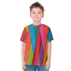 Colorful Lines Pattern Kids  Cotton Tee