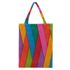 Colorful Lines Pattern Classic Tote Bag