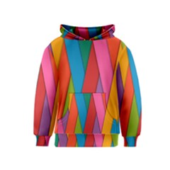 Colorful Lines Pattern Kids  Pullover Hoodie