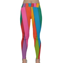 Colorful Lines Pattern Classic Yoga Leggings